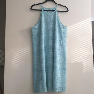 Ann Taylor LOFT Mint Green Lace Halter Dress